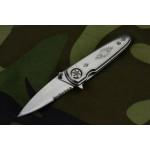 2710 spring assisted pocket knife-laser pattern finish