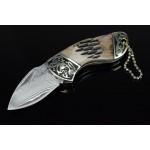 2858 damascus steel pocket knife