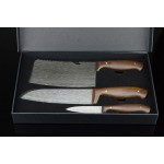 2023 Imitation damascus steel kitchen knives set