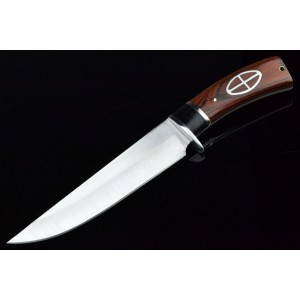 3Cr13 Stainless Steel Metal Bolster With Wooden Handle Hunting Tactics Knife 3288