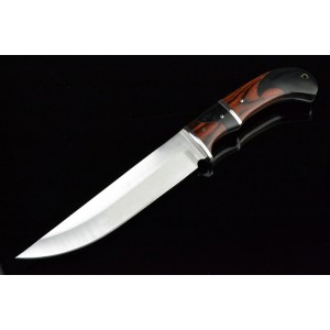 3Cr13 Stainless Steel Metal Bolster With Color wood Handle Hunting Tactics Knife 3295
