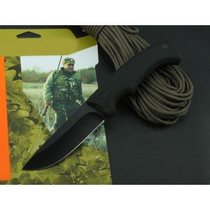8Cr13Mov Steel Blade ABS Handle Black  Finish with Nylon Sheath LED Light3449