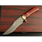 3459 damascus collectible hunting knife