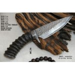 3520 damascus collectible hunting knife