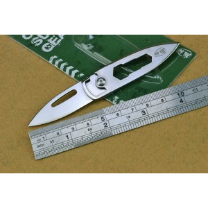 5cr13Mov Steel Blade Steel Handle Multi-functional Key knife4296
