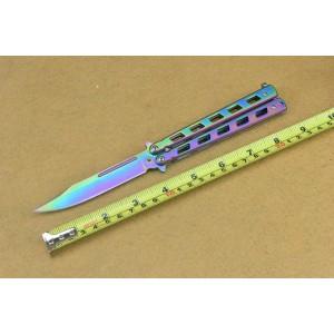 Benchmade 440 Stainless Steel Blade Metal Handle Multicolor Balisong Knife4548
