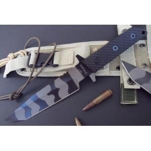 Strider 440C Stainless Steel Reinforced Fiberglass Nylon Handle Tiger Stripe Finish Full Tang Military Knife 1484