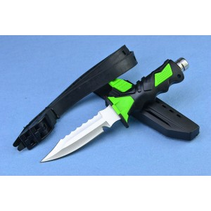 440 Stainless Steel Blade Rubber Handle Satin Finish Full Tang Military Knife with ABS Sheath4088