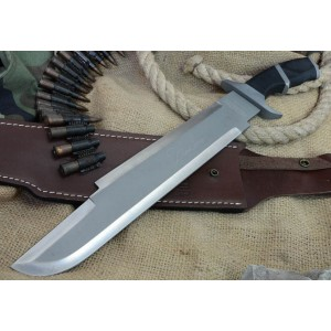 Perdator.420 J2 Stainless Steel Blade Wood Handle Machete with Leather Sheath2449