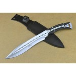 5Cr15Mov Steel Blade G10 Handle Full Tang Tactical Knife with Leather Sheath4738