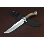 Columbia 3Cr13Mov Steel Blade Copper Bolster Wood Handle Hunting Knife with Nylon Sheath5068