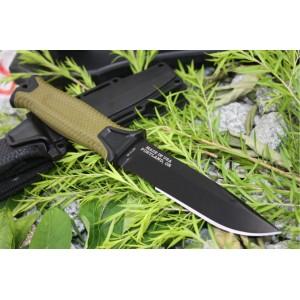GB 12CR17 Steel Blade Fiberglass Handle Black Telflon Finish Fixed Blade Survival Knife5205