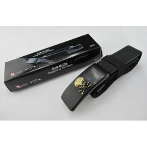 420 Stainless Steel Wood Handle Black Finish Belt Knife1585