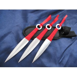 Red Silk.420 Stainless Steel Throwing Knife1191