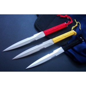 420 Stainless Steel Cord Wrapped Throwing Knife0952