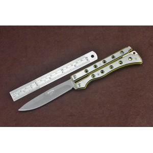 3Cr13Mov Steel Blade Metal Handle Titanium Finsih Balisong Knife4930