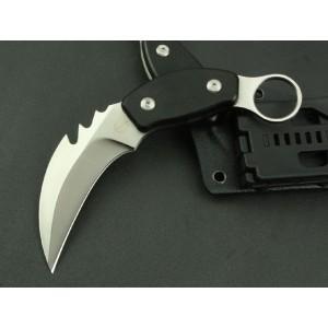 7Cr17MoV Steel Blade G10 Handle Satin Finish Claw Knife with Kydex Sheath3567