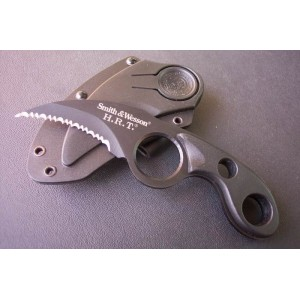 Smith Wesson.440 Stainless Steel Blade ABS Handle Black Finish Karambit Claw Knife with ABS Sheath0798
