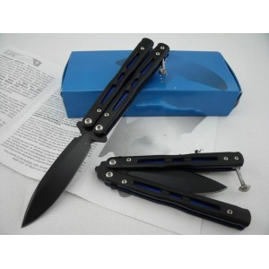 Benchmade.440 Stainless Steel Aluminum Handle Black Finish Balisong Knife1561