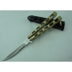 Benchamade.420 Stainless Steel Blade Aluminum Handle Satin Finish Balisong Knife1926