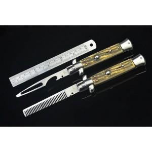 Maffia.440 Stainless Steel Blade Metal Bolster Resin Handle Mirror Finish Multi-functional Tool4977