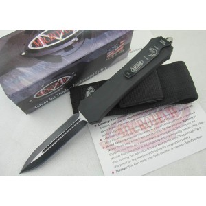 MTech.440 Stainless Steel Aluminum Handle Double Edge Push Botton Automatic-opening Knife2234