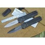 440 Stainless Steel Blade Fiber Plastic Handle Black Titanium Finish Pocket Knife4976