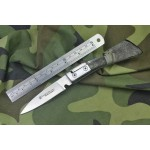 3Cr13MoV Steel Blade Metal Bolster ABS Handle Satin Finish Pocket Knife4975