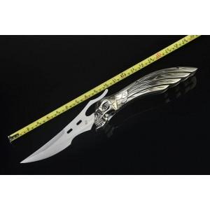 Wind Ghost.5Cr13MoV Steel Blade Aluminum Handle Titanium Finish Liner Lock Tiactical Folding Blade Knife5244