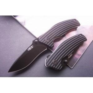 440 Stainless Steel Blade Aluminum Handle Black Finish Liner Lock Pocket Knife0833