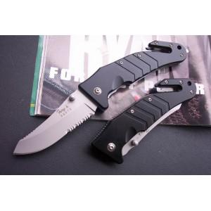 440 Stainless Steel Blade Aluminum Handle Bead Blast Finish Liner Lock Pocket Knife0864