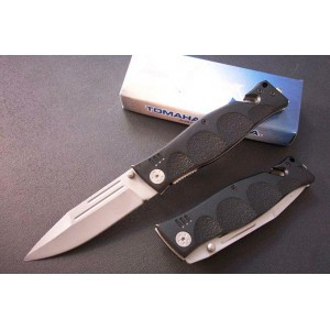 440 Stainless Steel Blade Aluminum Handle Bead Blast Finish Liner Lock Pocket Knife1006