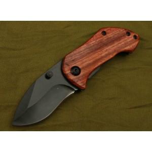 Boker.3Cr13MoV Steel Blade Wooden Handle Black Finish Liner Lock Pocket Knife2925