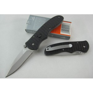 GB.440C Stainless Steel Blade Plastic Handle Titanium Bead Blast Finish Pocket Knife1754