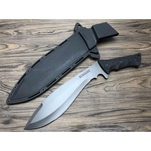 black titanium and rubber kukri knife5739