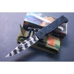 M9.420 Stainless Steel Blade Metal Handle Tiger Stripe Finish Pocket Knife