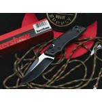 Kershaw.8Cr13MoV Steel Blade Aluminum Handle Fiberglass Nylon Inlay Black Finish Pocket Knife5933