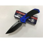 Smith Wesson.440 Stainless Steel Blade Aluminum Handle Stonewash Finish Liner Lock Pocket Knife5929
