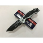Smith Wesson.440 Stainless Steel Blade Aluminum Handle Stonewash Finish Liner Lock Pocket Knife5928