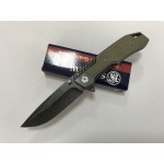 Smith Wesson.440 Stainless Steel Blade Metal Handle Stonewash Finish Liner Lock Pocket Knife5927