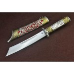 Tibetan Sliver Blade Totem Sliver Handle Handcrafted Knife 5161