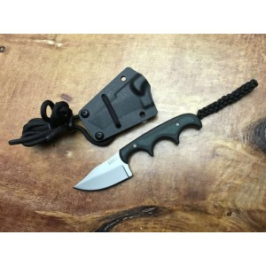 7Cr13MoV Steel Blade Micarta Handle Neck Knife Defensive Knife with ABS Sheath5890