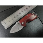 Damascus Steel Blade Rosewood Handle Damascus Finish Liner Lock Folding Blade Knife Pocket Knife5950