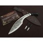 High Carbon Steel Blade Ebony Handle Mirror Finish Kukri Knife Machete5317