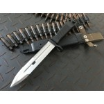 Stainless Steel Blade ABS Handle Satin Finish Top Blade Edge Milltary Knife 5525