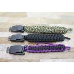 Stainless Steel Blade Rope Binding Handle Stonewash Finish Multi-functional Knife Wristband Knife5951