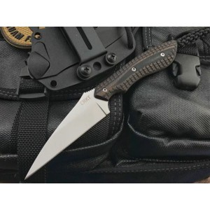 CRKT.8Cr13MoV Steel Blade G10 Handle Titanium Finish Fixed Blade Knife Defensive Knife with Kydex Sheath5876