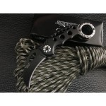 5CR13MoV Steel Blade Aluminum Handle Black Finish Folding Blade Knife Claw Knife5956