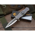 440 Stainless Steel Blade Metal Handle Liner Lock Folding Blade Knife Pocket Knife5864