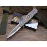 440 Stainless Steel Blade Metal Handle Liner Lock Folding Blade Knife Pocket Knife5863
